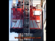 1 5 Ton Double Cages Construction Elevator