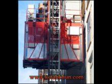 1 5 Ton Double Cages Construction Hoist