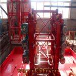 100m Single Cage Construction Hoist Elevator, Steel Galvanized Material