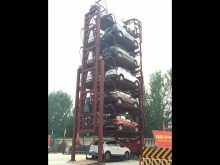 12 Cars SUV Smart PCX Vertical Rotary Parking Lift System Test before delivery