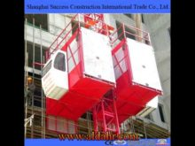 2015 Hot Selling Manufacturer Building Hoist with Two Cages SCD100/100 with Competitive Price
