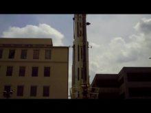 amquip gmk7550 tearing down a tower crane