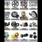 Brass Motocross Gear Spur Rack Gear / Clindrical Pinion Alloy Gear Wheel