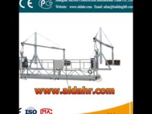 chimney suspended platform zlp630 working suspended platform