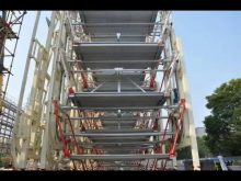 China Largest Project Vertical Rotary Parking System Installation Site,