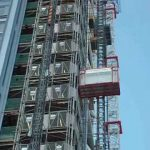 Close Up Of UBS Construction Hoists Heron Tower London