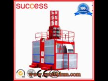 Construction Elevator 2 Ton 2 Cages 100 Meters Hoist