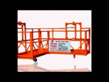 Corner Electric Scaffolding,L Shape Swing Stage Cradle, 90 Degree Suspended Scaffolding