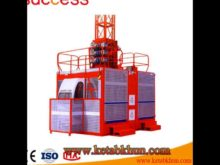 Double Cage Builders Hoist Made in China by Success