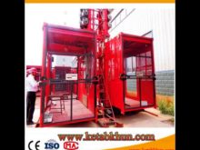 Double Cage Construction Lifting Equipment