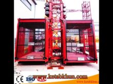 Double Cage Material Hoist For Construction