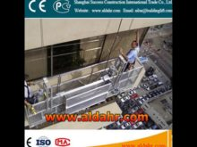 electric suspended hanging scaffold/wire rope suspended platform
