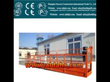 eletric aluminum alloy suspended platform for high rise window cleaning