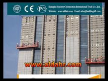 Exceptional Quality Customized type Hanging suspended platform by rail