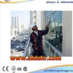 Facade Construction electric suspended platform wooden gondolas for cleaning