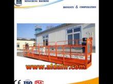 Factory ZLP steel/aluminium rope suspended platform