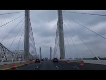 first drive across the new Abraham Lincoln Bridge