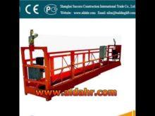 floating scaffold 8 3mm steel wire rope hoist suspended platform Factory