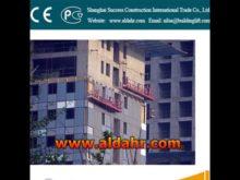 Galvanized Construction manual suspended platform