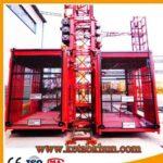 High Quality Sc100 1 Ton Double Cages Construction Lift Hoist Hot Sale