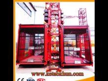 High Quality Sc100 1 Ton Double Cages Construction Mini Hoist Cranes
