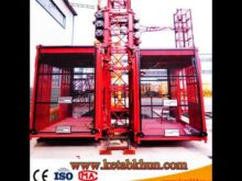 Hot Double Cages Construction Material Hoist 1 5m Cage