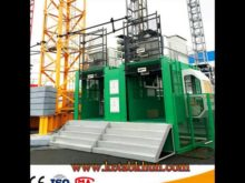 Hot Sale Sc200/200 Double Cage Construction Hoist With Calss One Safety System