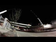 I-65 S @ Main st overpass beam install