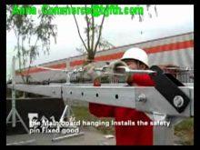 JH suspended platform work platform Installtion Video ZLP800 Cradle