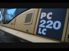 komatsu PC220 walk around