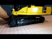 Komatsu PC450 high reach demo excavator review