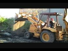 me operating the backhoe