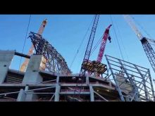 New falcons stadium under construction