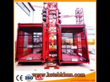 One Ton of Rack and Pinion Elevator Performance Sc Series Construction Elevator Equipment