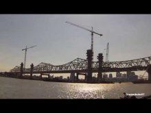 ORBP: First bridge girder being set on downtown bridge