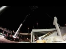 ORBP: I-65 S @ Witherspoon st overpass beam install