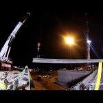 ORBP: I-65N @ 10th st overpass beam install