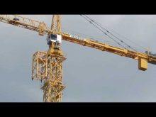 process of jumping a Liebherr 630 Ech 40 tower crane