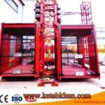 Quiet Engine Double Cabin Construction Hoist / Hoist For Construction 1t/2t/4t
