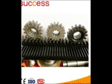 Rack And Pinion Gears With Helical Teeth