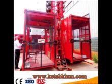 Sc100 1000kg 2*15 Kw Building Lifting Hoist
