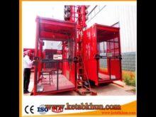 Sc100 1000kg 2*15 Kw Construction Elevator For Sale