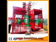 Sc100 1000kg 2*15 Kw Construction Elevator Lift