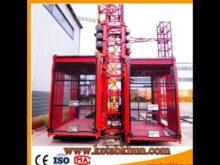 Sc100 1000kg 2*15 Kw Construction Elevator Manufacturer