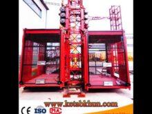 Sc100 1000kg 2*15 Kw Construction Elevator