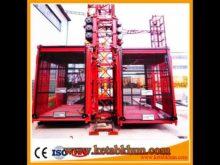 Sc100 1000kg 2*15 Kw Construction Hoisting Elevator
