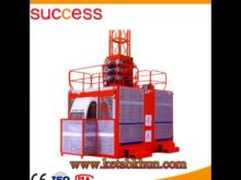 Sc200/200 3*2*11kw Double Cages Construction Lifter