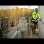 Scanclimber SC8000 mast climber at bricklaying & masonry work – increased ergonomics & productivity