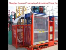 SEW Rack and pinion construction hoist popular selling