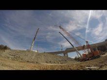 Sterett Cranes ltm1500 & ltm1400 passing beams